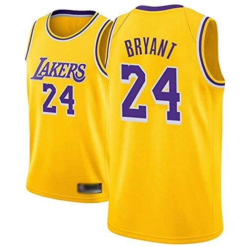 Camiseta de Baloncesto para Hombre, NBA, Los Angeles Lakers #24 Kobe Bryant. Bordado Swingman Transpirable y Resistente, Fresco y transpirable tejido deportivo, que absorbe la humedad(Size:S,Color:A1)