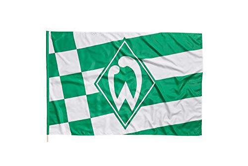 Flagge mit Hohlsaum Werder Bremen Raute - 100 x 150 cm + gratis Aufkleber