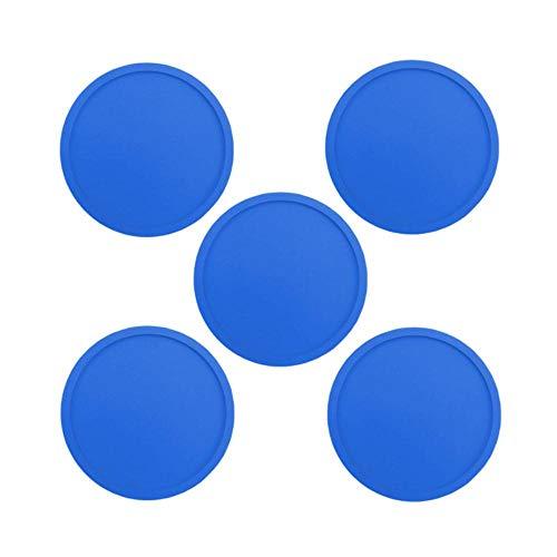 SEOLQX Juego de posavasos de silicona de 1/5/8 unidades, reutilizables, resistentes al calor, redondos, para vino, cerveza, cocina, posavasos, 5 unidades, color azul, redondo, de 1/5/8 unidades