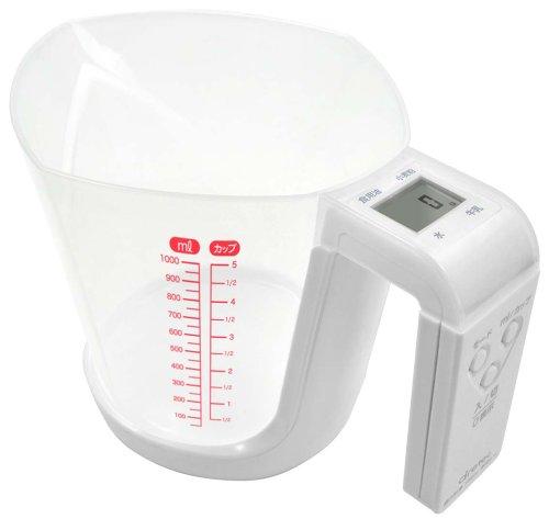 ドリテックデジタル計量カップファリーヌ1kgホワイトCS-100WT