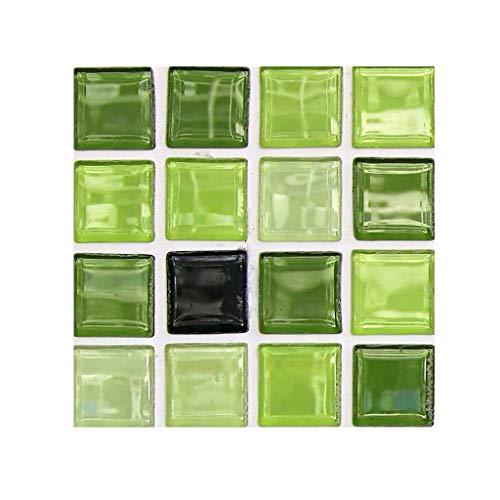 Harpily DIY 3D Mosaic Self Adhesive Wall Tile Sticker, Vinyl Home Kitchen Decoration Kreative Fliesenaufkleber des Mosaiks 3D imprägniern Wandaufkleber-Bodenaufkleber