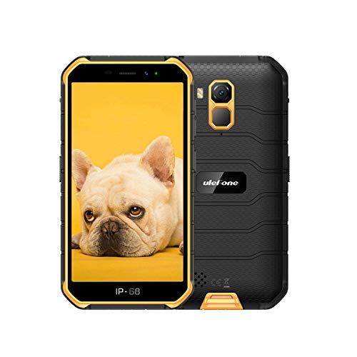 4G Rugged Phones Unlocked Ulefone Armor X7, Rugged Smartphones Unlocked, 5'' HD 2GB+16GB (SD Card Up to 128G) Dual Camera 13MP+5MP 4000mAh, Android 10,Dual Sim Waterproof Rugged Cell Phone, NFC Orange
