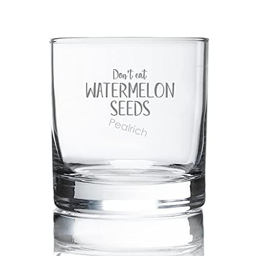 Vaso de whisky antiguo, vasos de whisky grabados, 8 onzas, no comas semillas de sandía para la dama con un bebé Bump Crystal copas de cóctel para hombres, copa de whisky para bourbon, brandy de coñac