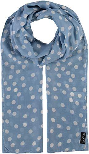 FRAAS Damen-Schal mit Punkte-Muster - perfekt für Frühling und Sommer - luftiges Mode-Accessoire Blue