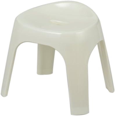 パール金属 風呂 椅子 高さ30cm ホワイト バス スツール シンプルピュアα 日本製 HB-3052