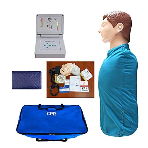 GXGX Kit de manicura de Half Body CPR, simulación cardiopulmonar, simulación de revitalización, cuidado de enfermería, modelo de enseñanza de primeros auxilios, monitor CPR para Bil
