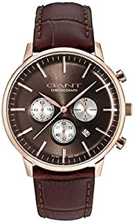 Gant Tilden Men's Brown Dial Leather Band Watch - G Gww024002, Analog Display