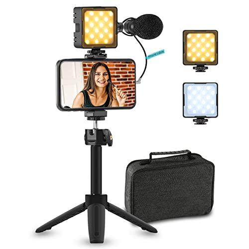 Sutefoto Smartphone Vlogging Kit, Phone Vlog Kit für Starter Kids Videoaufnahme ...