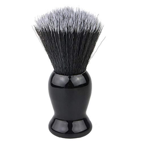 Artibetter 1 Pc Pratique Portable Bonne Qualité Barbe Brosse Rasage Brosse Moustache Brosse Barbe Styling Outil pour Hommes Hommes Père Noir