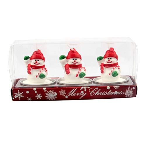 Glomixs - Velas Decorativas navideñas con diseño de Papá Noel y Papá Noel, para Fiestas de casa, Fiestas de Disfraces de Papá Noel, Fiestas de Disfraces de Cono o de Navidad