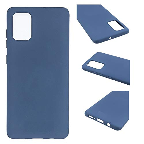 CoverKingz Funda de silicona para Samsung Galaxy A02s, color azul mate