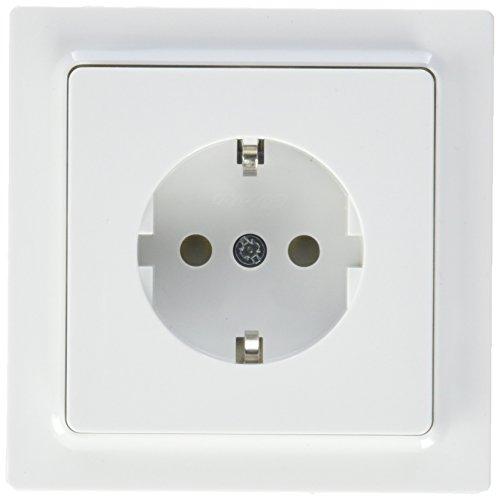 Eltako Schutzkontakt-Steckdose DSS mit Steckdosenoberteil, 1 Stück, reinweiß glänzend, DSS65F-WG
