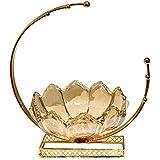 Placa de fruta Placa de fruta for vidrio de metal Cristal de cristal de cristal Candy plato a domicilio Sala de estar Caramelo Tarrar caja de pañuelo Cesta de fruta Conjunto suave Decoración for el al