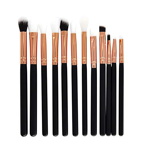 jkhhi Nouveau Pinceaux Maquillages Yeux Professionnel 12 Pcs,Fards à PaupièRes Ombre à PaupièRes Eyeshadow Pinceau PoignéE En Bois Fibres SynthéTiques Souples Haute Qualité Brosse