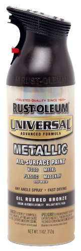 Price comparison product image 12 Oz Oil Rubbed Bronze Metallic Universal All Surface Spray Paint [Set of 6]