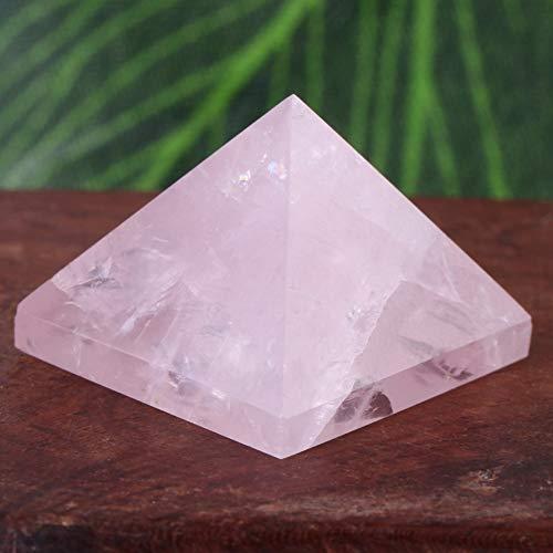 Pirámide de cristal, pirámide de cuarzo rosa, antiguo Egipto, natural para la suerte en la vida, pisapapeles para decoración del hogar, buena fortuna