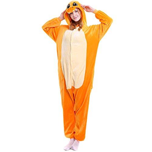LSHEL Unisexo Adulto Animal Pijamas Cosplay Disfraz Homewear Mamelucos Ropa De Dormir, Dragn de Fuego, S (Altura: 145-155 cm)