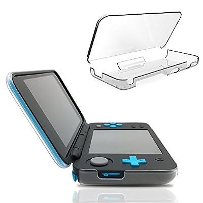MaxKu New Nintendo 2DS XL Case, Clear Hard Shell Protective Case Cover Skin for New Nintendo 2DS XL (Transparent)