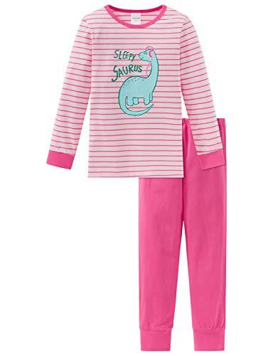 Schiesser Mädchen Md Anzug lang Zweiteiliger Schlafanzug, Rot (Rosa 503), (Herstellergröße: 116)