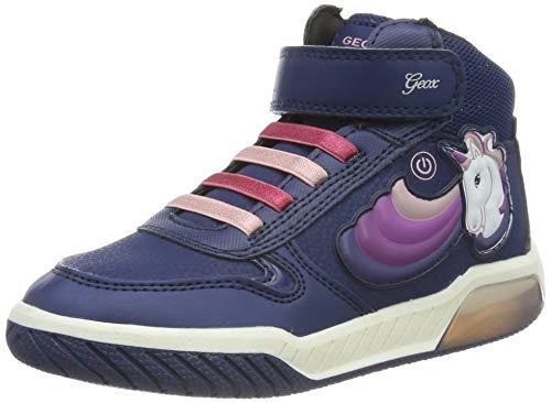 Geox Mädchen J INEK Girl B Hohe Sneaker, Blau (Navy C4002), 24 EU