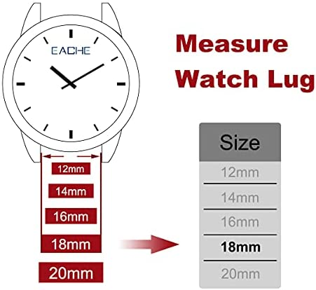 EACHE Stainless Steel Mesh Watch Band for Mens Women, Quick Release Mesh Watch Straps 12mm 14mm 16mm 18mm 20mm 22mm WeeklyReviewer