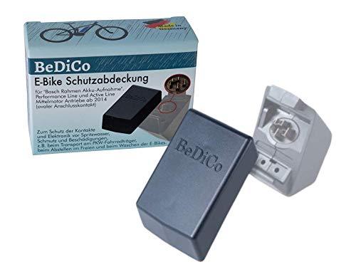 BeDiCo Cubierta protectora de Bosch para bicicleta eléctrica de marco Bosch, para grabación de batería de serie Active, Performance, Line y CX a partir de 2014.