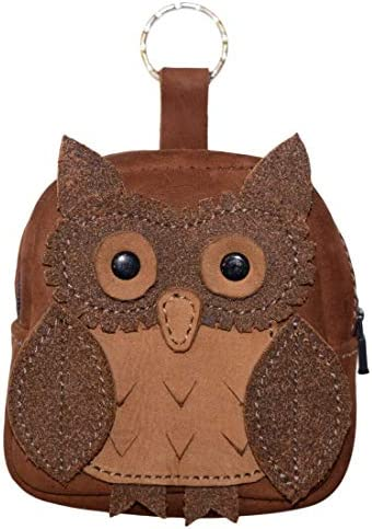 Hide Drink Owl Mini Backpack Leather Coin Purse Wallet Case Cable Pouch SD Card Holder USB Organizer product image