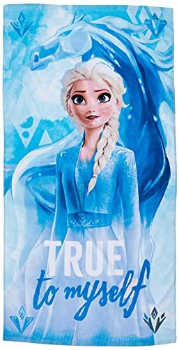 Disney Frozen 2 algodón. Referencia KD Playa lavarse la Cara-Toallas Textiles del hogar Unisex Adulto, Multicolor (Multicolor), única