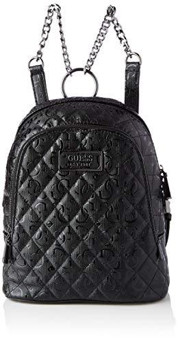 Guess Damen LOLA Backpack Umhängetaschen, schwarz, Einheitsgröße