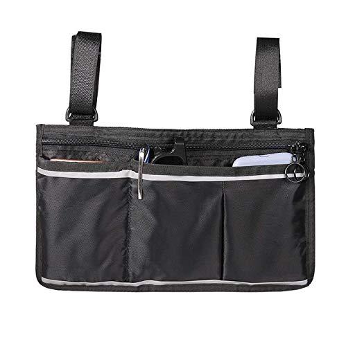 Jeu GeHL Rollstuhl-Seitentasche, Rollstuhl-Aufbewahrungstasche für Elektromobil, Zubehörtasche Rollstuhltasche, Schwarz, M