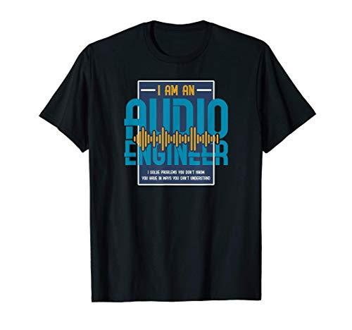 Situen Funny Audio Engineer T-Shirt | I Solve Problems Soundman Tee T-Shirt