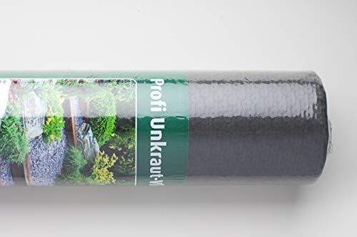 Les Professionnels reißfestes mauvaises herbes non-tissé de 90 g/m2 1 x 25 m, UV stable, Très efficace, qualité professionnelle, Perméable et laisse passer l'air, pour pavés et coutures Gravier