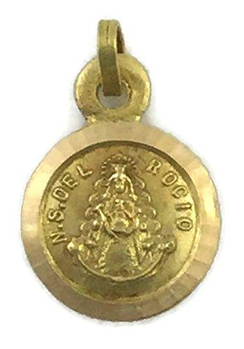 Medalla Escapulario de Oro de 18 Klts de Bebé J. Luis J.L-MED-013 (Virgen del Rocío y Virgen de la Cinta)