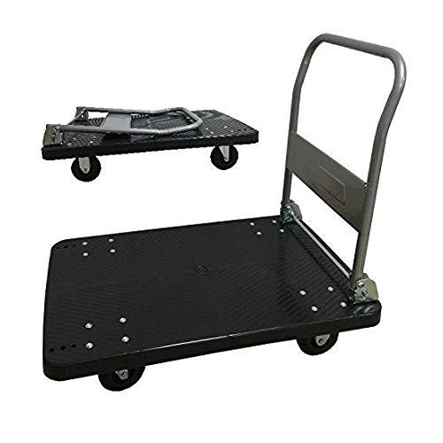 手押し台車 黒(小)150kg 業務用台車 折りたたみ式台車 軽量 静音