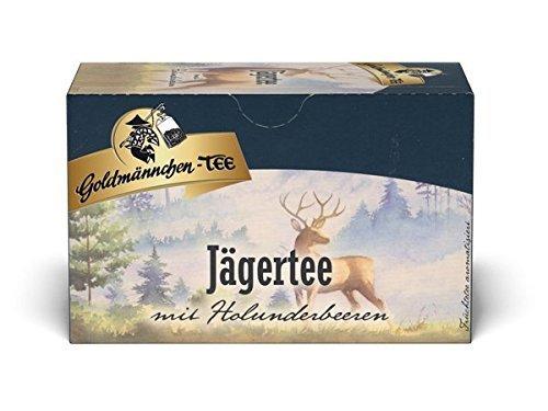 Goldmännchen Tee Jägertee mit Holunderbeeren, 20 einzeln versiegelte Teebeutel, 6er Pack  (6 x  50 g)