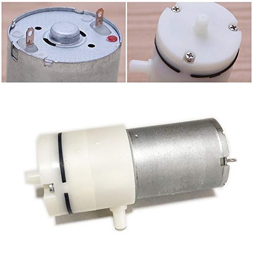 JIEIIFAFH 2.4L / min 3.7V / 6V / 12V / 24V Mini-Luftpumpe Elektro-Micro-Vakuumpumpe Elektropumpen Booster Motor for die medizinische Behandlung Instrument (Color : 2.4L, Size : 6V)