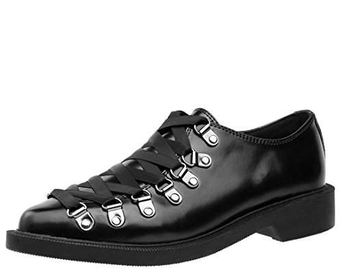 T.U.K. Women's A9143 Leather Corset Oxford, Black, Men's 8 US/Women's 10 US