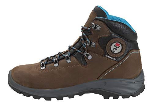 DOGGO Unisex-Erwachsene Asta Biker Boots, Braun (Braun/Blau Braun/Blau), 45 EU