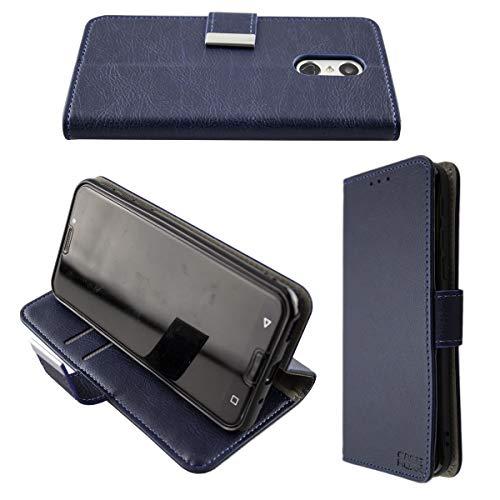 caseroxx Handy Hülle Tasche kompatibel mit Emporia Smart 3 Bookstyle-Hülle Wallet Hülle in blau