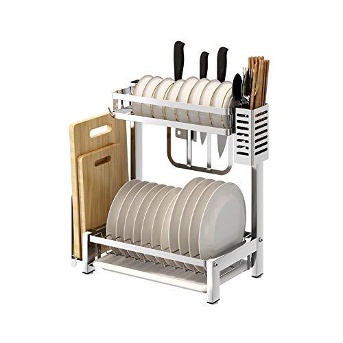 YCHSG Küchenregale 304 Edelstahl Küchenregale Trockengestelle Tischablage Geschirr Aufbewahrungsbox Geschirr Ablage