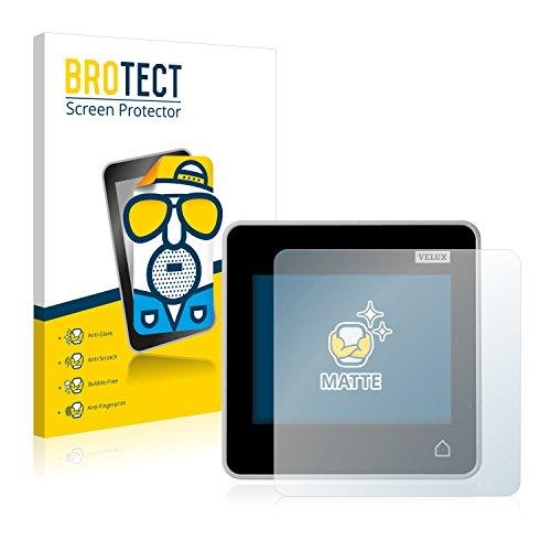 Preisvergleich Produktbild brotect 2X Entspiegelungs-Schutzfolie kompatibel mit Velux Integra Control Pad KLR 200 Displayschutz-Folie Matt,  Anti-Reflex,  Anti-Fingerprint