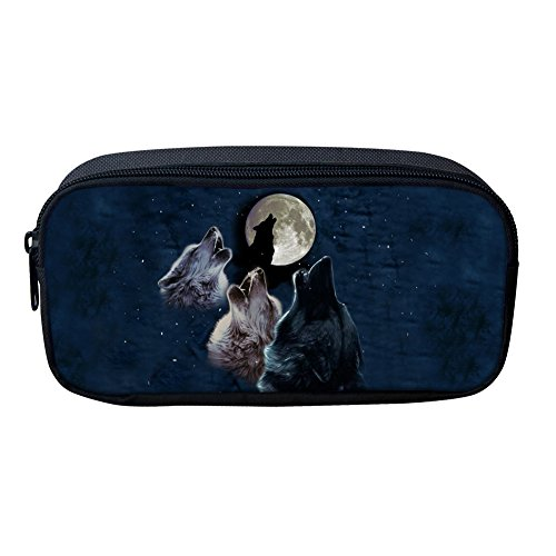 Nopersonality Creative Animal Wolf Paard Potlood Tas Draagbare Vrouwen Make-up Pouch Medium Kleur 4