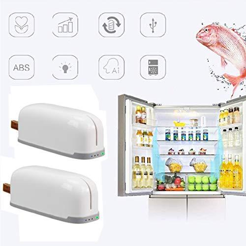 Parka Purificador de Refrigerador, 2 PCS Ozono Refrigerador Purificador Refrigerador Purificador de Aire Doméstico de Aire Eliminador de Olores Mini Ambientador para Zapatero, Armario, Automóvil