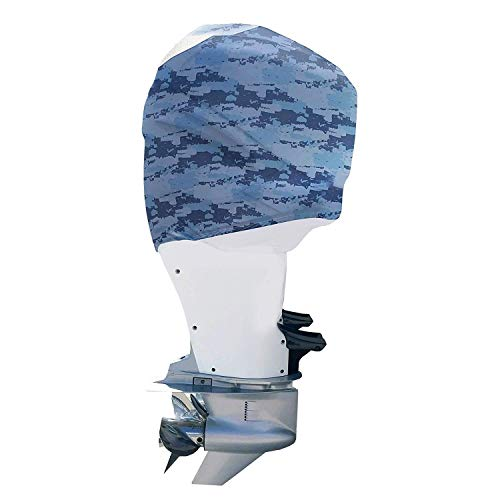 OUTERENVY Blue Digital Camo Outboard Motor Cover for Mercury Verado 225-300HP V8 (2018-Present) | Made in USA to Stay on While You Run!