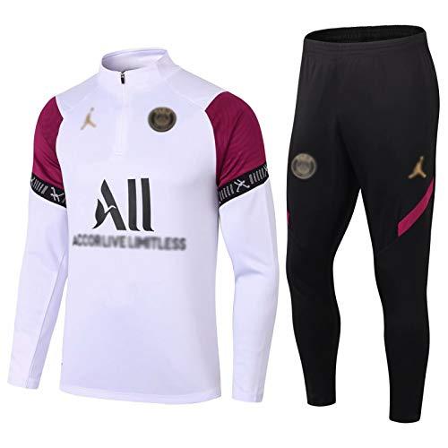 Gylilai Pariser Langarm-Sportbekleidung, Fußball-Sweatshirt für Männer des European Football Club, Langarm-Sporttrainingsuniform für Frühling und Herbst (Size : M)