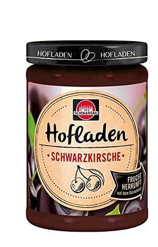Schwartau Hofladen Schwarzkirsche, Fruchtaufstrich mit Herkunftsfinder, 8er Pack (8 x 200 g)