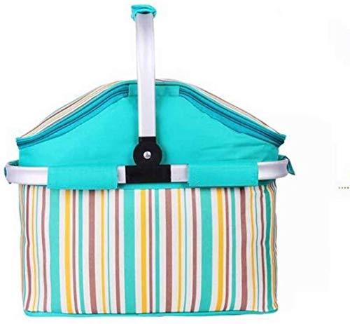 CVXCVCBCG Outdoor Opvouwbare Draagbare Rits Tas Koeler Picknick Tafel Mand Isolatie Tas Handtas Sky Blauw