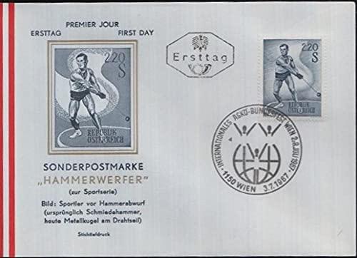 FGNDGEQN Briefmarken Österreich 1967 Stempelsport Herren Kette Kette Kette 1 Ganztägige Dichtung Alle Produkte