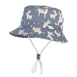 Cloud Kids Chapeau Bob Bébé Enfant Chapeau de Soleil Unisexe en Coton Pliable Protection Anti-UV Solaire Plage Été…