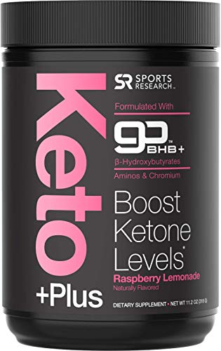 Keto Plus Exogenous Ketones (goBHB) - 30 Servings | Formulated for Ketosis, Energy and Focus | Keto Certified, Vegan Friendly (Raspberry Lemonade)